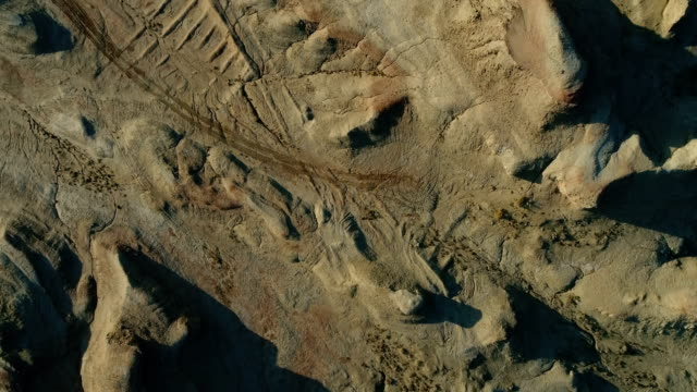 gobi desert aerial view - natural pattern stock videos & royalty-free footage