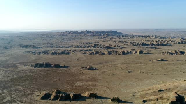 Luftaufnahme der Wüste Gobi