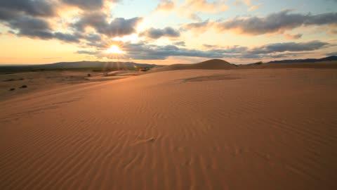 gobi desert at sunset - dramatic sky stock videos & royalty-free footage