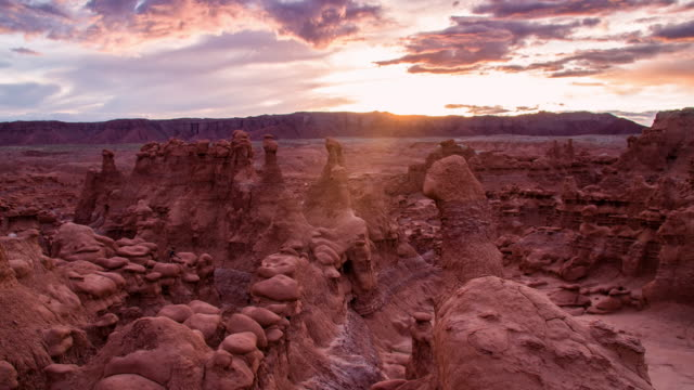 ds goblin valley at dusk - sandy utah stock videos and b-roll footage