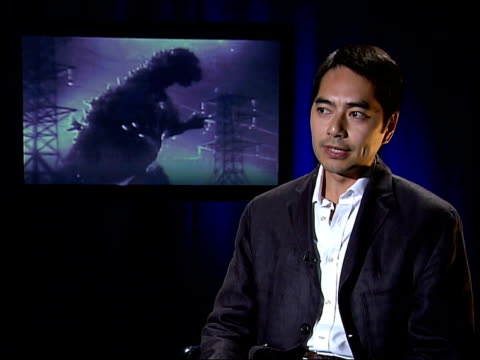 godzilla and japanese postwar fears england london david sin interview sot godzilla is a monster that is awakened by the nuclear testing in the south... - südpazifik stock-videos und b-roll-filmmaterial