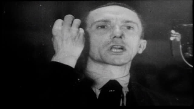 goebbels blames the communists for the reichstag fire goring allows police to shoot and kill communists - hermann goering stock videos & royalty-free footage