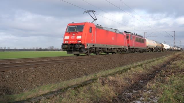 Goederentrein tussen Osnabrück en Hannover