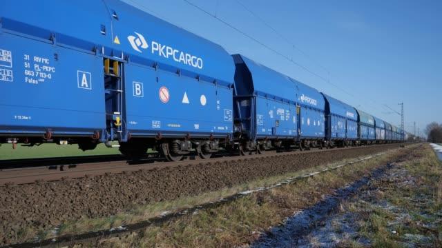 Goederentrein van PKP Cargo tussen Osnabrück en Hannover
