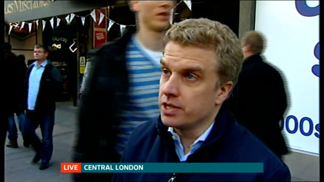 potential buyers eye up business ENGLAND London EXT Malcolm Pinkerton LIVE interview SOT