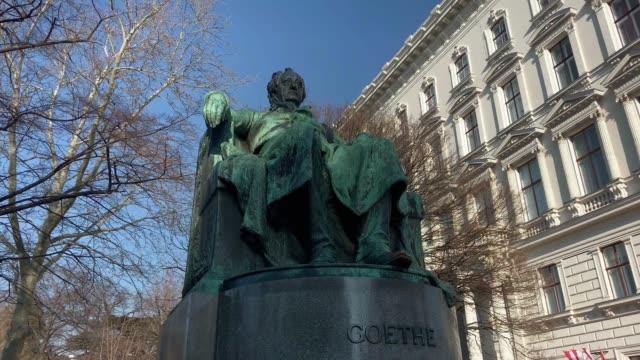 goethe memorial vienna - poetry stock videos & royalty-free footage