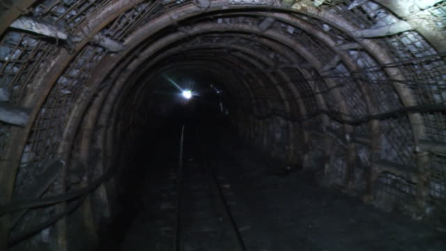 Going down to the underground tunnel at the coal mine