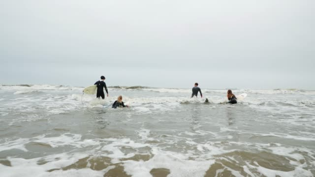 Going into the Surf