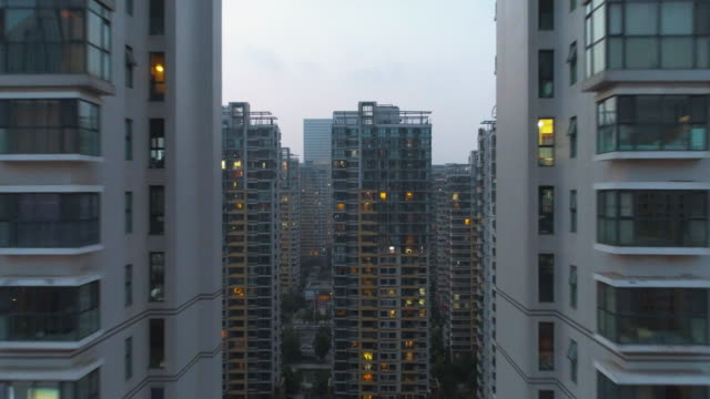 going through residential buildings - 集合住宅点の映像素材/bロール