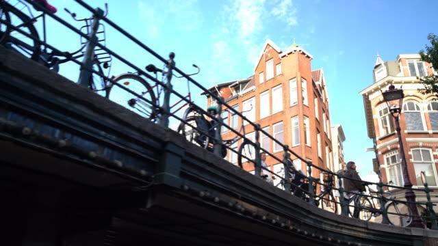 going under bridge - amsterdam video stock e b–roll