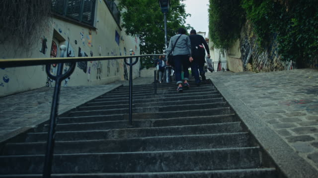 Going up Montmartre stairs