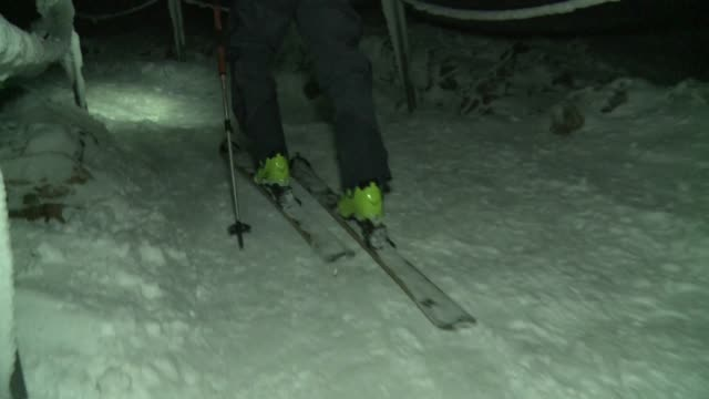 going uphill in touring skis - ski holiday stock videos & royalty-free footage