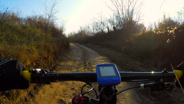 pov  going uphill mountain bike. - uphill stock videos & royalty-free footage