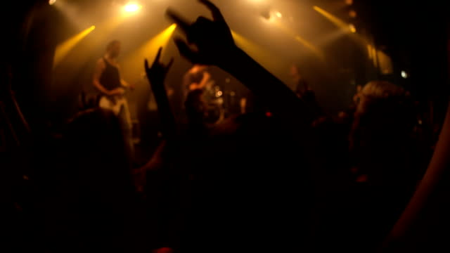 going wild at the concert - rock group stock videos & royalty-free footage