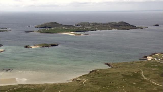 じっくり島ドニゴール海岸航空写真-アルスター、ドニゴール、アイルランド - アルスター州点の映像素材/bロール