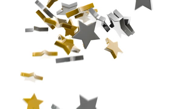 Gold and Silver Stars Background.