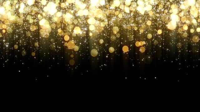 ゴールド背景 - 単発動画像 - 4 k 解像度 - 物の集まり点の映像素材/bロール