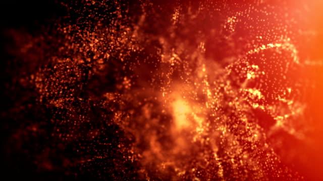 vídeos de stock e filmes b-roll de gold background - átomo
