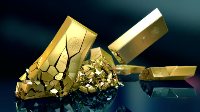 hd: gold bars crash - crash stock videos & royalty-free footage