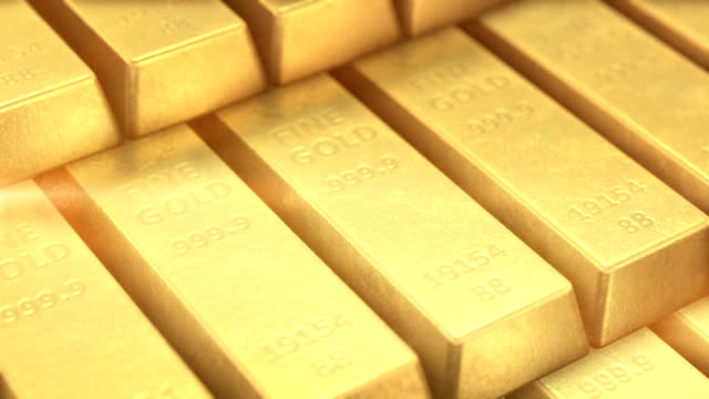 gold bars - ingot stock videos and b-roll footage