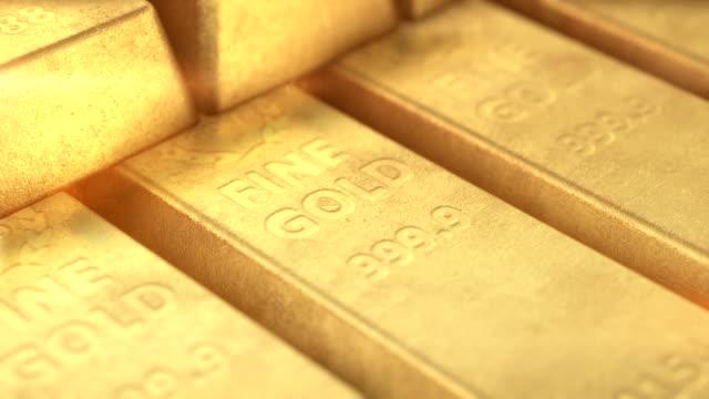 gold bars - barren geld und finanzen stock-videos und b-roll-filmmaterial