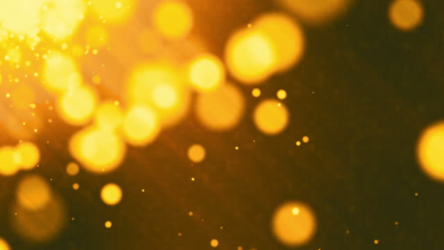 Gold Bokeh Particles,Loopable
