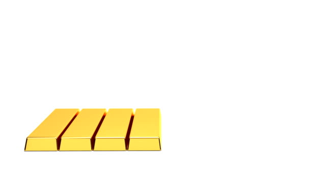 gold bullion, time-lapse - ingot stock videos and b-roll footage