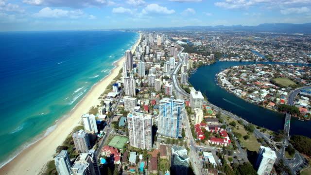 vídeos y material grabado en eventos de stock de costa dorada, australia - gold coast