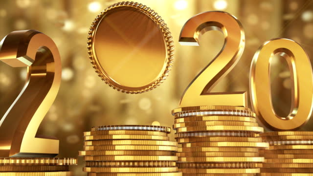 2020 gold coins falling - 2020 business stock videos and b-roll footage