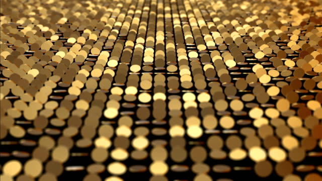 gold coins pattern - glitter effect (loop 4k) - gold medalist stock videos & royalty-free footage