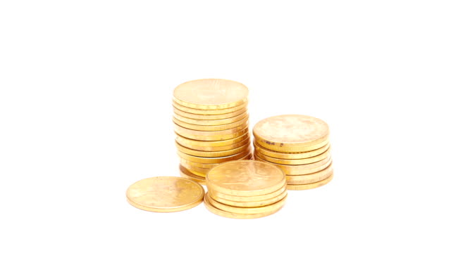 gold coins - contracting stock videos & royalty-free footage