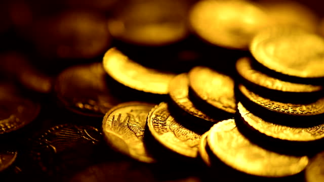 gold coins - coin stock videos and b-roll footage