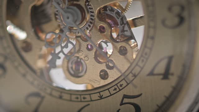 gold color  antique watch mechanism working - antique stock videos & royalty-free footage