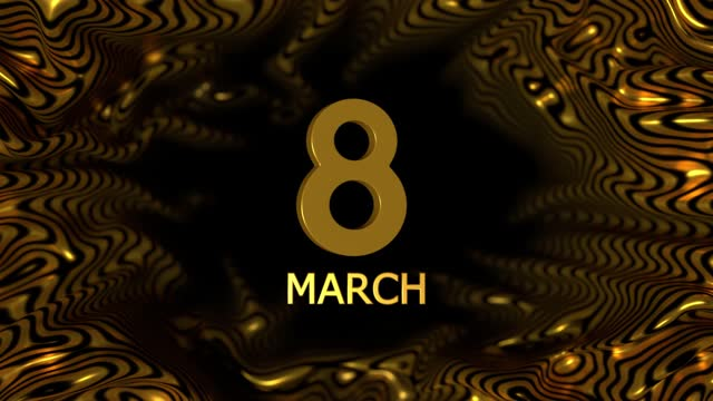gold colored number 8 to celebrate 8 march international women's day on abstract background animation in 4k resolution - number 8 stock videos & royalty-free footage