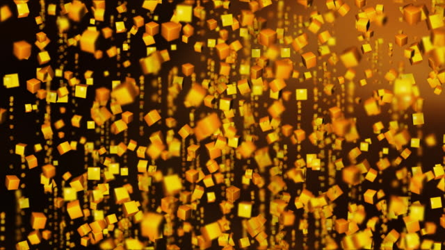 gold confetti - cube stock videos and b-roll footage