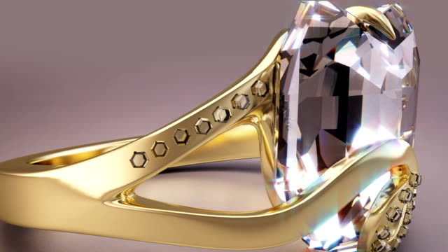 24K Gold Diamond Ring