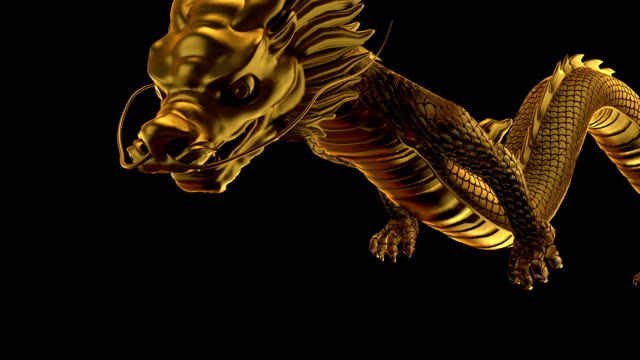 gold dragon fly left and right - dragon stock videos & royalty-free footage