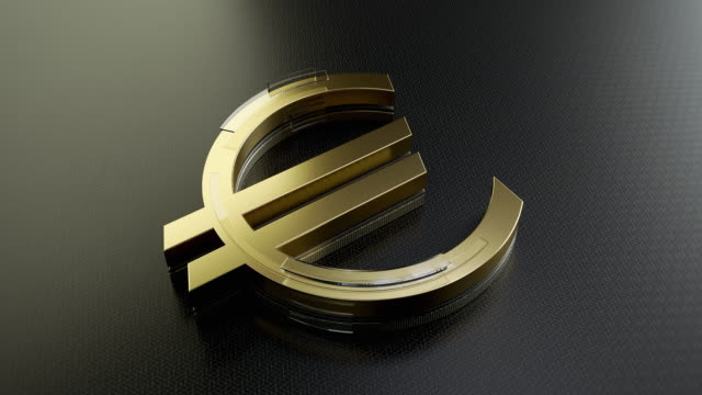 gold euro sign - euro symbol stock videos & royalty-free footage