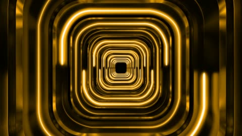 3d gold futuristic background corridor - man made object stock videos & royalty-free footage