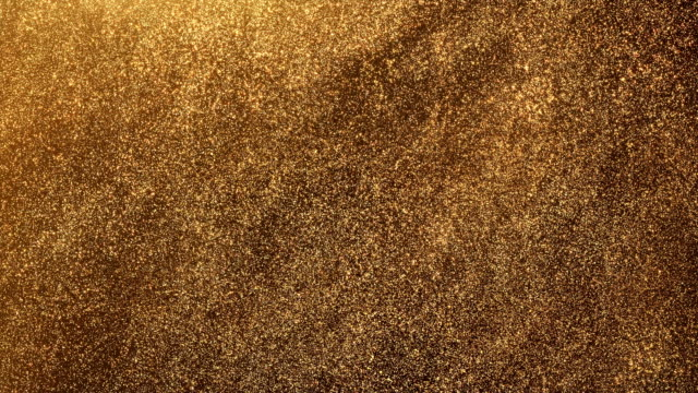 glitter d'oro - loop - scintillante video stock e b–roll