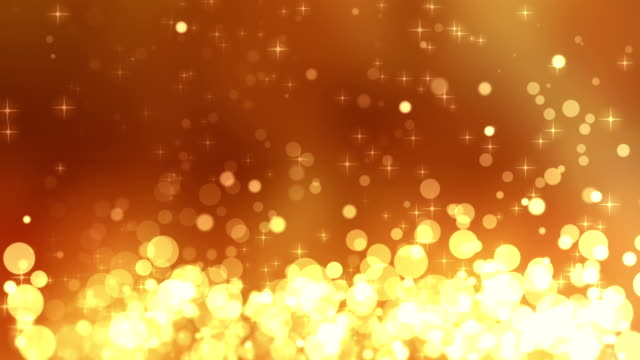 4K Gold Glitter Rising Background Loopable