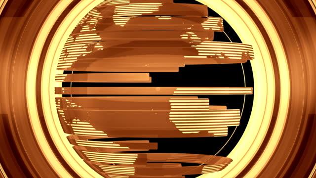 gold glossy globe transition - luma matte stock videos & royalty-free footage