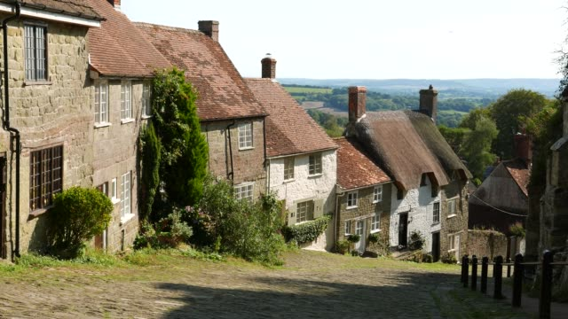 gold hill shaftesbury - england stock videos & royalty-free footage