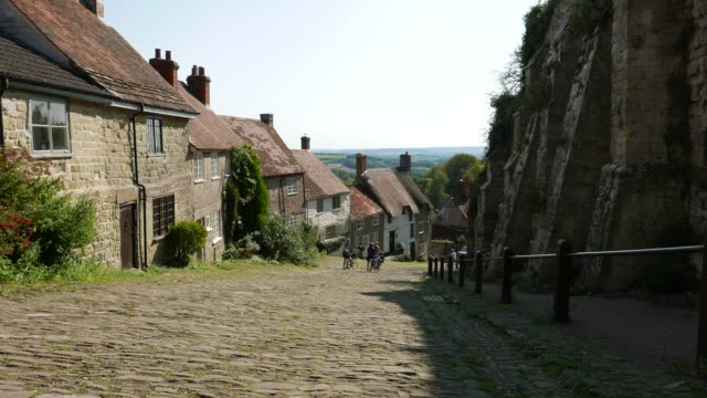 gold hill shaftesbury - cobblestone stock videos & royalty-free footage