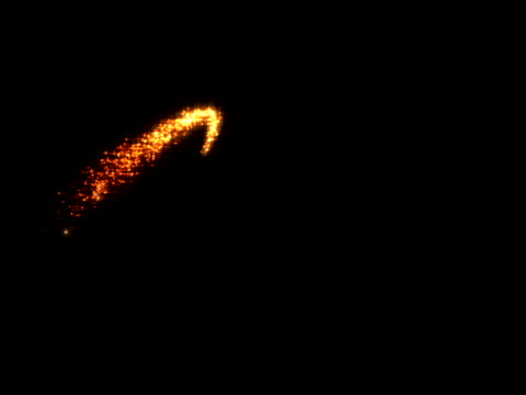 gold, horizontal zigzag comet - zigzag stock videos & royalty-free footage