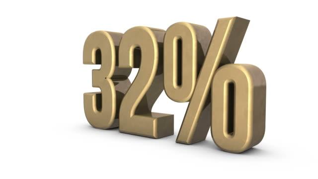 ゴールドの増加率 0% ~100% - パーセント記号点の映像素材/bロール