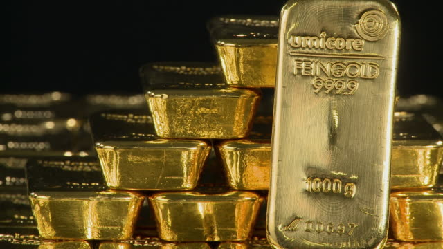 cu gold ingots / hanau, hessen, germany - western script stock videos & royalty-free footage