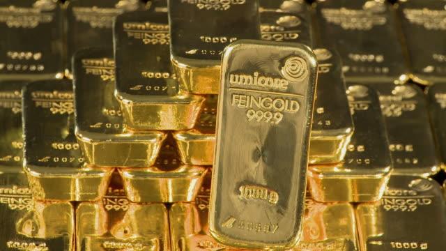 CU Gold ingots / Hanau, Hessen, Germany