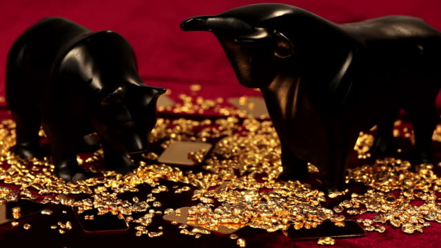 ms pan gold ingots on red cloth / hanau, hesse, germany - panning stock videos & royalty-free footage