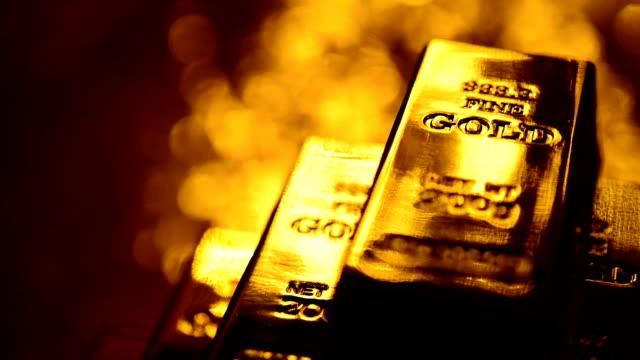 gold ingots - ingot stock videos & royalty-free footage